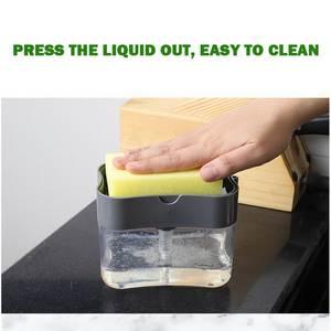 Soap-Pump-Dispenser Liquid-Dispenser-Container Soap-Organizer Sponge-Holder Kitchen-Cleaner-Tools