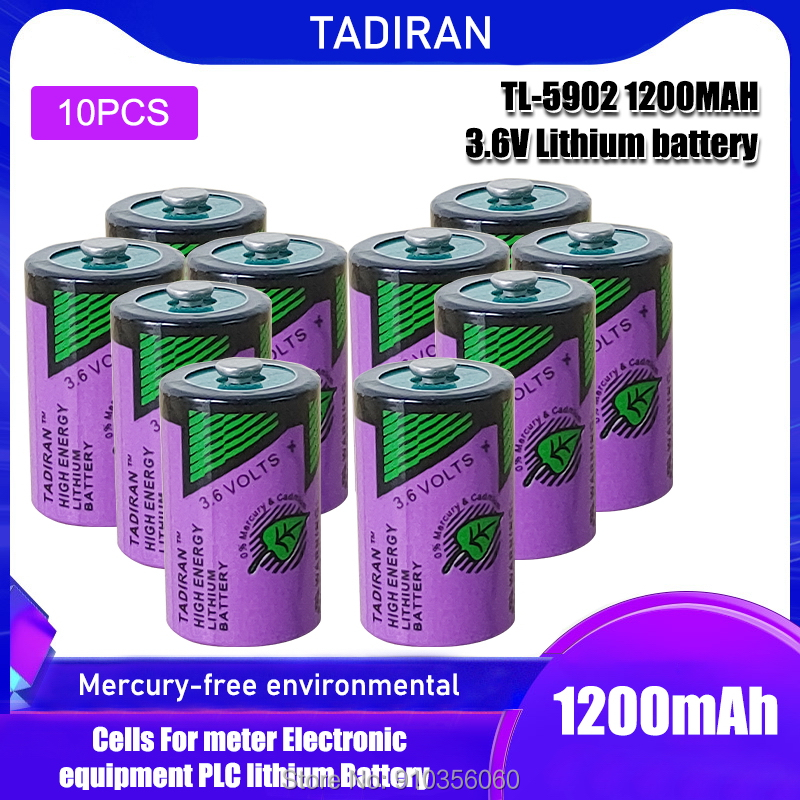 10 шт. для TADIRAN 1/2AA ER14250 3,6 V TL-5902 PLC оборудование nc машина счетчик газа зонд литиевая батарея