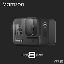 Vamson for Gopro Hero 8 Black Tempered Glass Screen Protector Action Camera Lens Screen Film 9Pcs for Go pro 8 Camera VP720