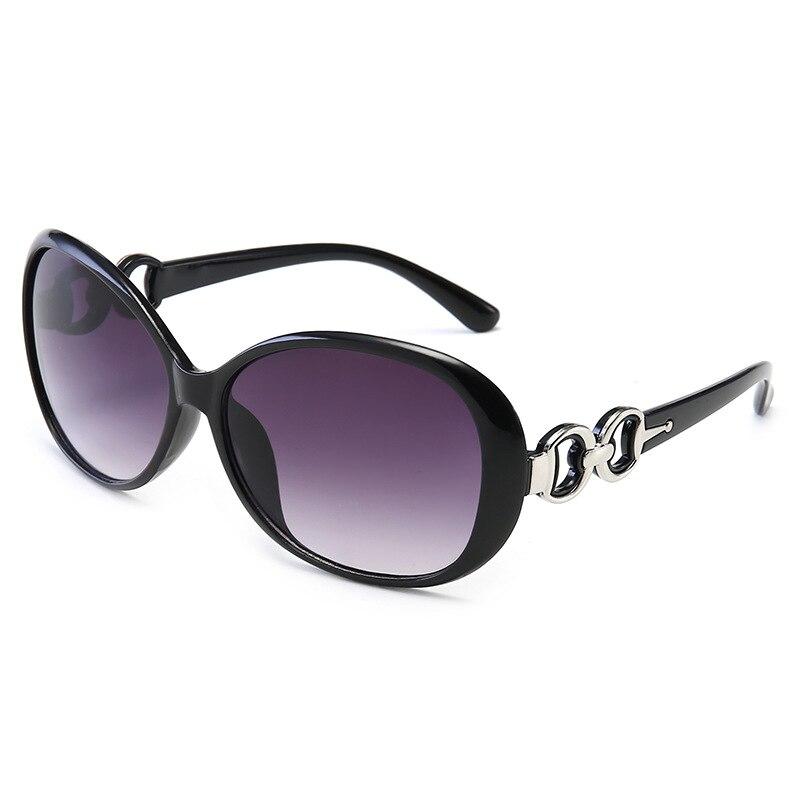 Trendy new sunglasses in Europe and America Fashion personality Siamese big box walk show street oval