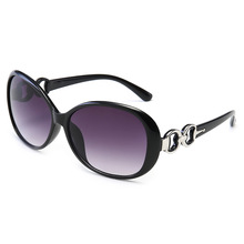 Trendy new sunglasses in Europe and America Fashion personality Siamese big box walk show street oval