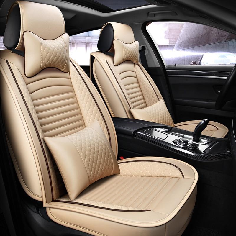 Car-Seat-Covers Universal-Size Waterproof Auto Audi Citroen PU for Kia Sedan SUV Latest