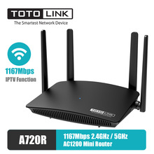 Antennas Mini Router TOTOLINK Beamforming A720R English Fixed 1167mbps-Iptv-Function