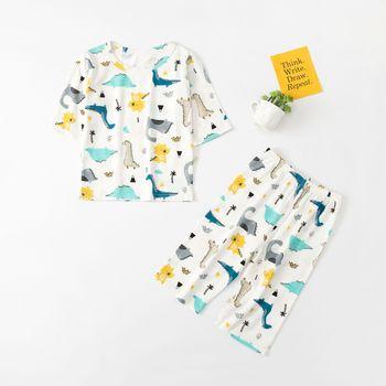 BINIDUCKLING, conjunto de pijamas impresos de algodón puro para niños, conjunto de pijamas lindos y suaves y cómodos para bebés, ropa de dormir para niños y niñas