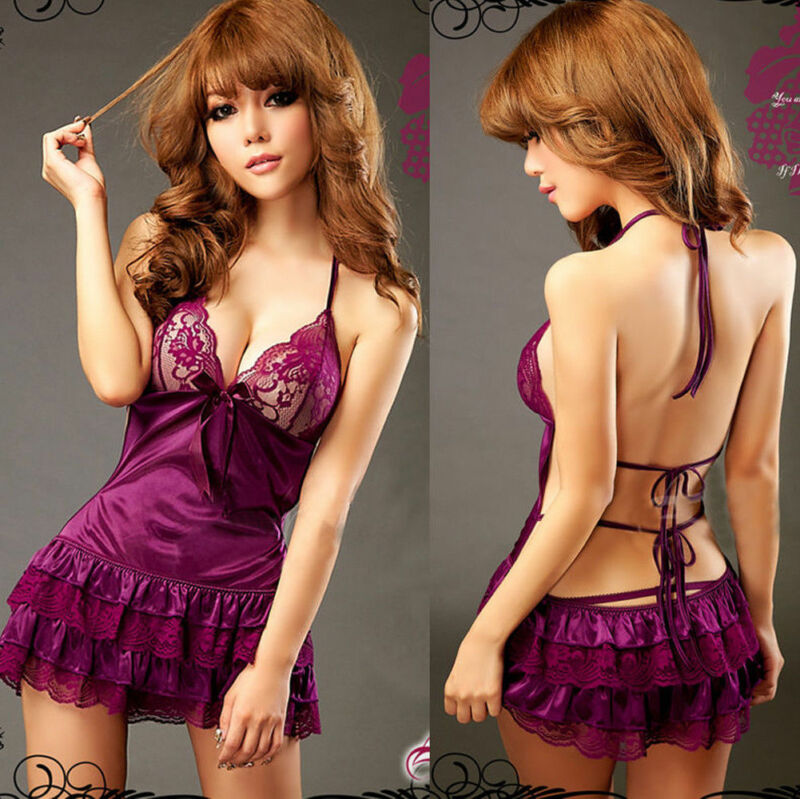 Sexy Costumes Women Erotic Lingerie Hot Dress Set Underwear Backless Lace Nightwear Clothing Sex Toys Uniform Apparel Vestidos
