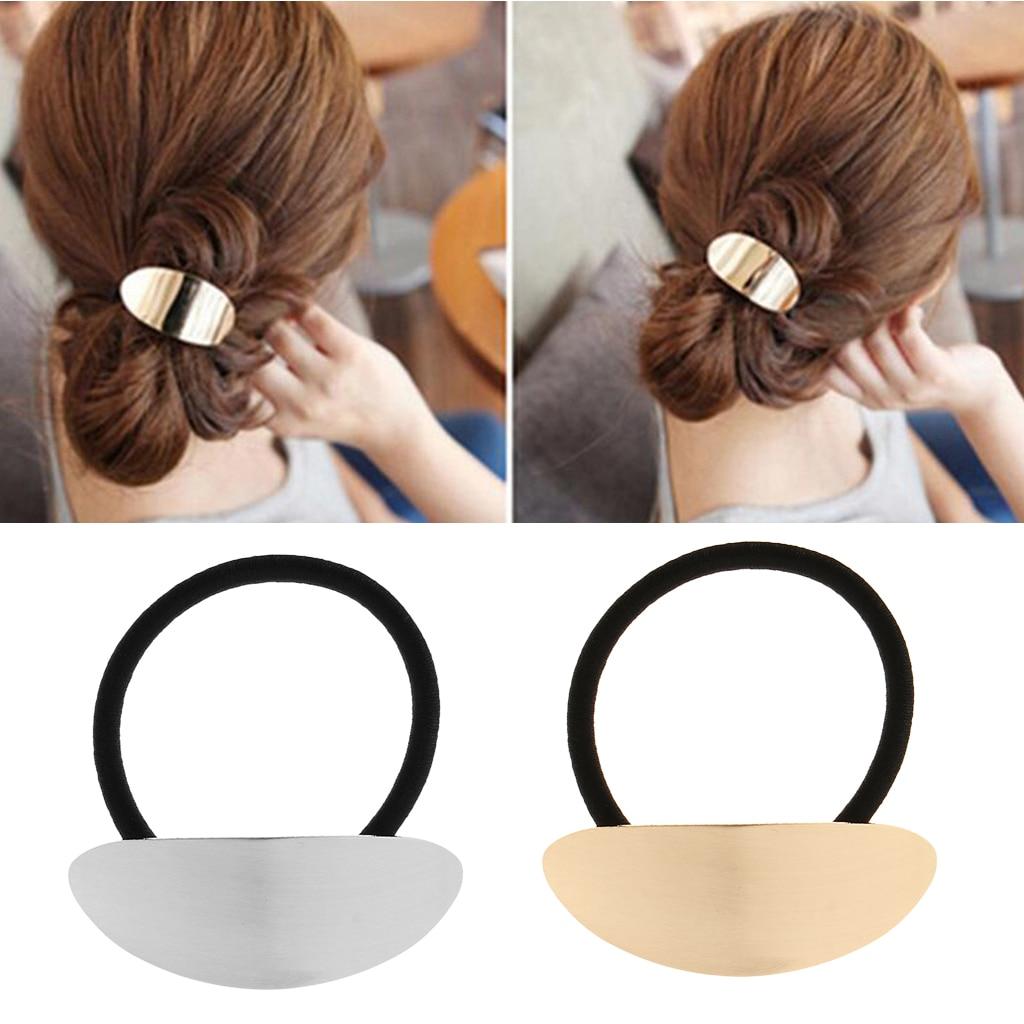 Cool Metal Circle Hair Cuff Band Tie Elestic Ponytail ...