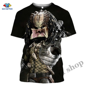 Terror Movie The Predator T Shirt 3D Alien Killer Men's T-shirts Soldier Kaiju Men Tshirt Funny Women Horror Sportswear Homme