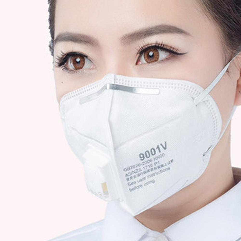 10pcs/lot 9001VDust Mask PM 2.5 Anti-fog Masks Anti Influenza Breathing Valve Adult KN90 Safety Particulate Respirator