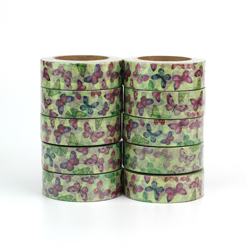 Wholesale 10pcs/lot Decor Cute Butterfly Insect Washi Tapes DIY Scrapbooking Planner Adhesive Masking Tapes Kawaii Stationery