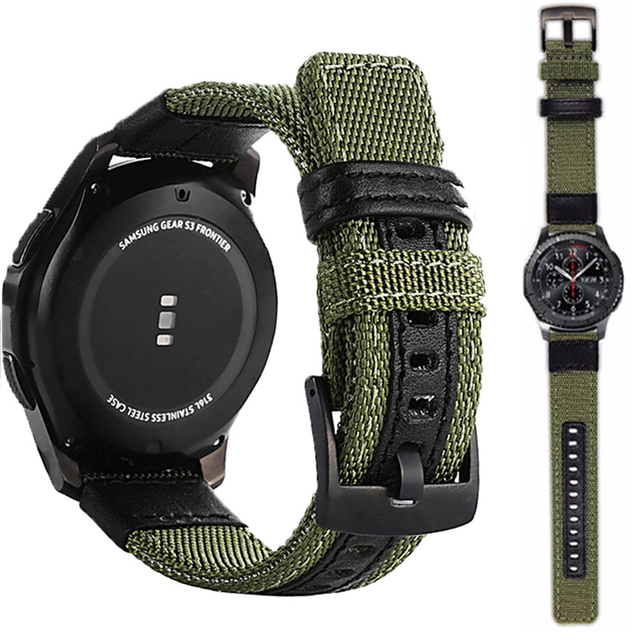 strap For Samsung Galaxy watch 3 46mm band gear s3 Frontier Classic nylon 22mm 20mm WatchWoven Nylon Band for 20mm 22mm Wrist 1
