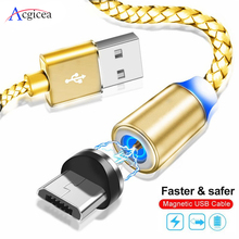 Acgicea Magnetic Cable Micro usb Type C Fast Charging Microusb Type C Magnet Charger Wire USB C For iPhone 11 Pro X Xr USB Cable