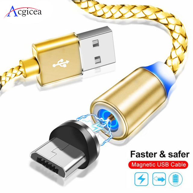 Acgicea Magnetische Kabel Micro usb Typ C Schnelle Lade Microusb Typ C Magnet Ladegerät Draht USB C Für iPhone 11 Pro X Xr USB Kabel