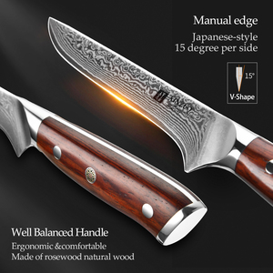 Image 4 - XINZUO 6 inch Eviscerate Knife Japan style Damascus Steel Kitchen Knife High Quality Boning Fillet Fish Knives Rosewood Handle