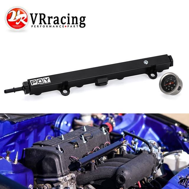 Aluminium K Series Heavy Fuel Rail Kit High Flow Injection Fuel Rail For Honda K20 K24 RSX Civic Si ,Integra EP3 With Oil Gauge 1