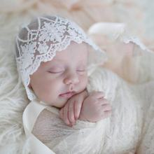 Милая Кружевная шляпа для новорожденных; Реквизит фотосессии