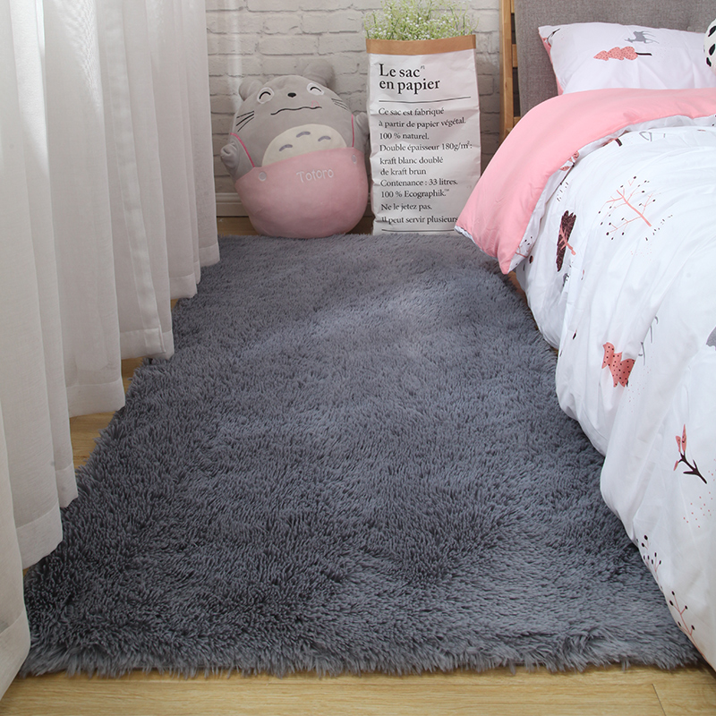 Fluffy Tie Dye Carpets For Bedroom Decor Modern Home Floor Mat Large Washable Nordica in the Living Room Soft White Shaggy Rug 8