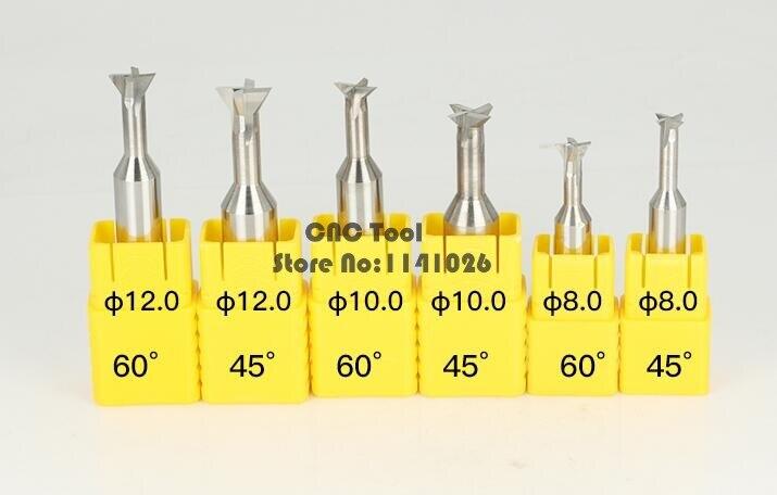 1 шт. 45 градусов/60 градусов/75 градусов карбида ласточкин хвост фрезы 3 мм 4 мм 5 мм 6 мм 7 мм 8 мм 9 мм 10 мм 11 мм 12 мм 16 мм 20 мм