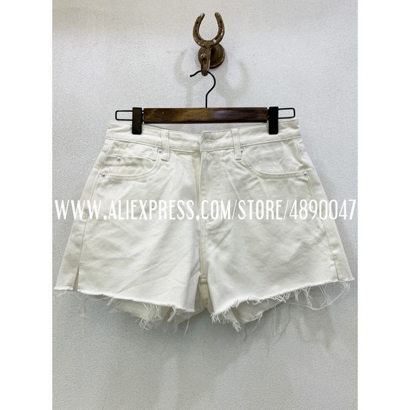 Women's Fashion Casual Summer Shorts 2020 New Back Embroidery Denim Shorts Mid-Waisters Sexy High Quality Short Jeans