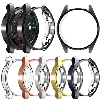 New Arrival Soft Protect Cover for Huawei Watch GT 2 1 42mm 46mm 2E Case TPU Bumper GT2 Pro Shell Accessories - discount item  33% OFF Watches Accessories