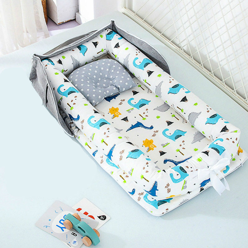 2020 Breathable Baby Bed Baby Bassinet For Bed Travel Cot Toddler Baby Lounger 100% Cotton Portable Crib For Bedroom