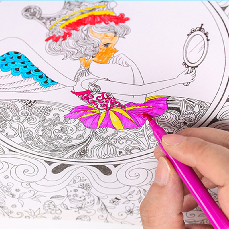288 шт детский художественный Набор для рисования, детский подарок, акварельный рисунок, художественный маркер, кисть, набор ручек для детей, повседневная развлекательная игрушка, подарок