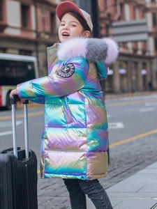 Down-Jacket Outerwear Parka Snowsuit Winter Clothes Teenage Cold Coatr Real Fur Girl