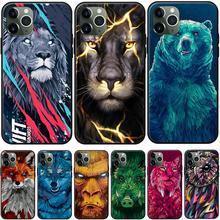 Прохладный животных, Не доставая его из чехла для принципиально iPhone X Etui для iPhone XS Max 11, 8, 7, 6, 6S, Plus, 5S XR мягкий чехол из ТПУ с узором дизайнерски...