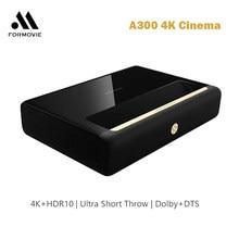 WEMAX A300 4K TV Home Theater Suporte Projetor Ultra Curto Alcance Projetor Laser телевизо 3D Resolução Nativa 3840x2160 vídeo