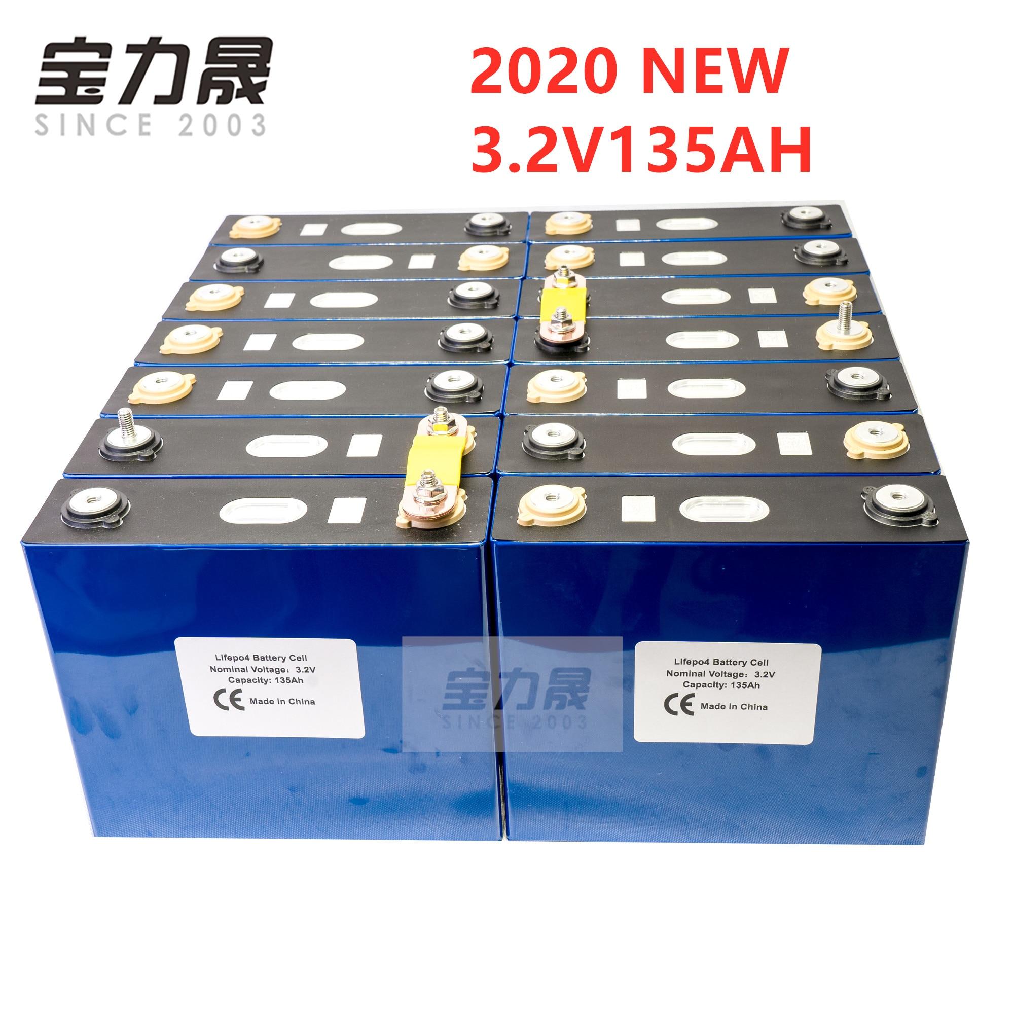2020 NEW 32PCS 3.2V 135Ah Lithium Iron Phosphate Cell Lifepo4 Battery  Solar 96V135AH 48V120Ah Cells Not 150Ah EU US TAX FREE