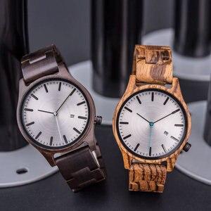 Image 3 - DODO Reloj de madera con indicador de fecha para hombre, reloj masculino de madera, con caja de regalo