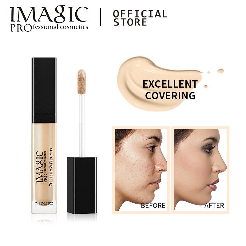 IMAGIC консилер для глаз и основа, 6 цветов, полный охват, подходит для всех цветов кожи лица/макияжа глаз, жидкий консилер