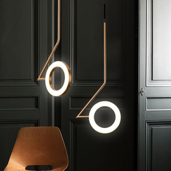 Nordic sypialnia lampka nocna lampa wisząca żyrandol do restauracji oświetlenie nowoczesna oprawa Bar mosiądz kreatywny LED projektant lampy lustre w Wiszące lampki od Lampy i oświetlenie na