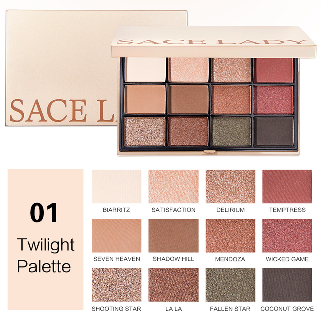 SACE LADY Eyeshadow Palette Makeup Glitter Eye Shadow Pallete Professional Matte Shadow Make Up High Pigment Nude Cosmetic 1