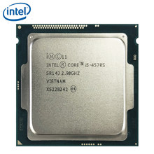 Intel Core i5-4570S i5 4570s 2.9GHz dört çekirdekli dört iplik CPU İşlemci 6M 65W LGA 1150 test 100% çalışma