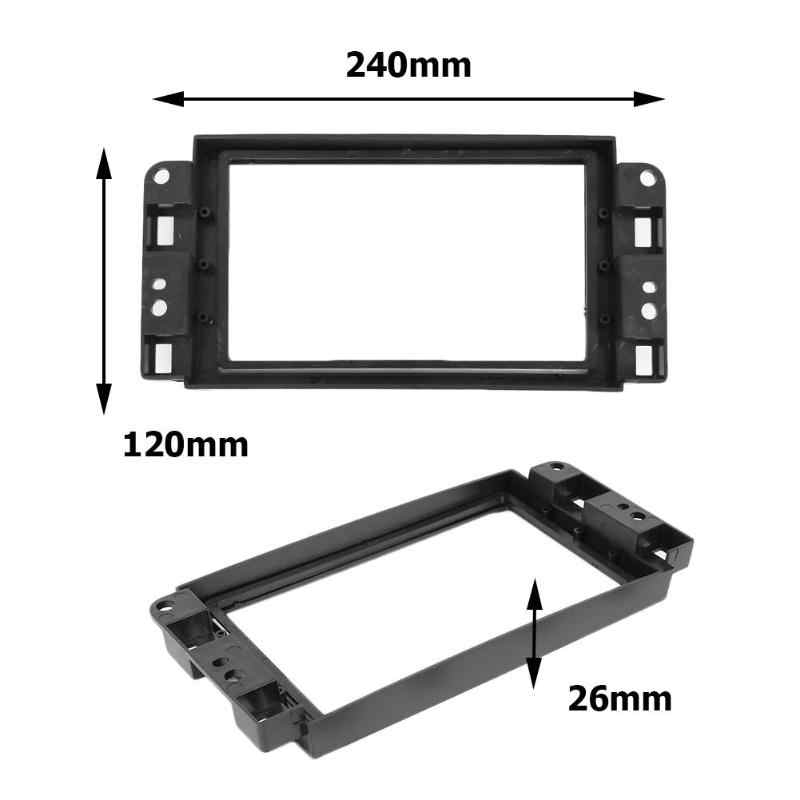 Tahan Lama Bingkai Luar Tahan 2 DIN Mobil Stereo Install Dash Bezel Panel Mounting Frame Trim Kit Untuk Chevrolet