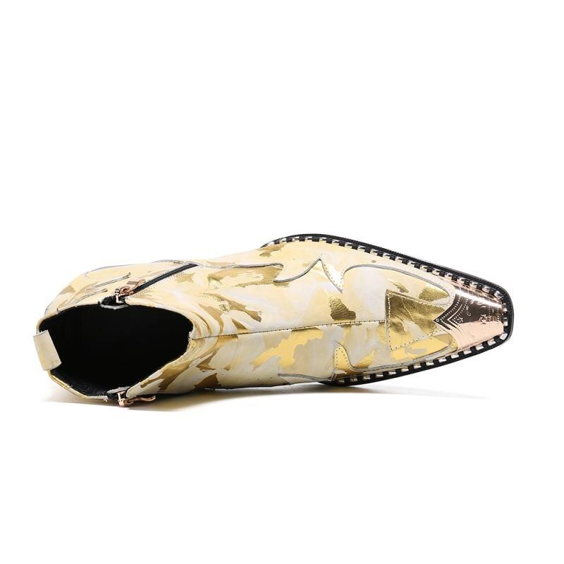 de luxo ouro impressão festa sapatos de