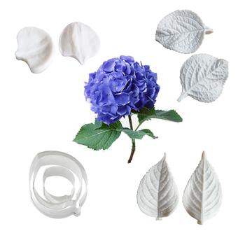 Hydrangea Flower Petal Veiner Silicone Mold Fondant Mould Cake Decorating Tools Chocolate Gumpaste,Sugarcraft Mold CS251 ttlife 3d daisy flower shape silicone mold pastry cupcake chocolate soap bakeware mould fondant cake sugarcraft decoration tools