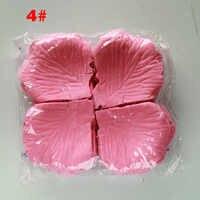 Petali di Rosa 1000 Pz/lotto Romantico Decorazione Della Festa Nuziale Artificiale 2020 Fiori Petali di Fiori 40 Colori di Seta Petali di Rosa