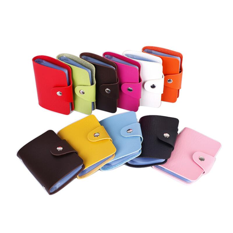 1pc 24 Card Slots PU ID Holders Business Card Clip Ticket Collection Book Card Stocks Credit Card Holder For Cards Cardholder