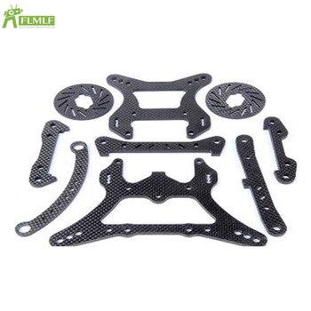 5mm Carbon Fiber Front Rear Lower Suspension&Shock Absorber Bracket&Disc Brakes&Steering Plate for 1/5 Losi 5ive T Rovan LT KMX2