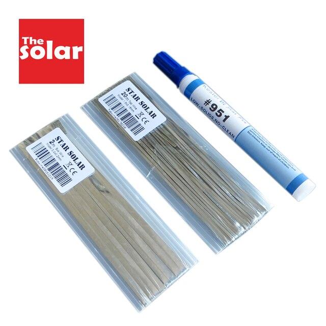PV şerit sekme tel 20m 66ft 1.80x0.16mm güneş hücreleri Tab Bus Bar tel DIY için bağlantı şerit GÜNEŞ PANELI 951 akı kalem