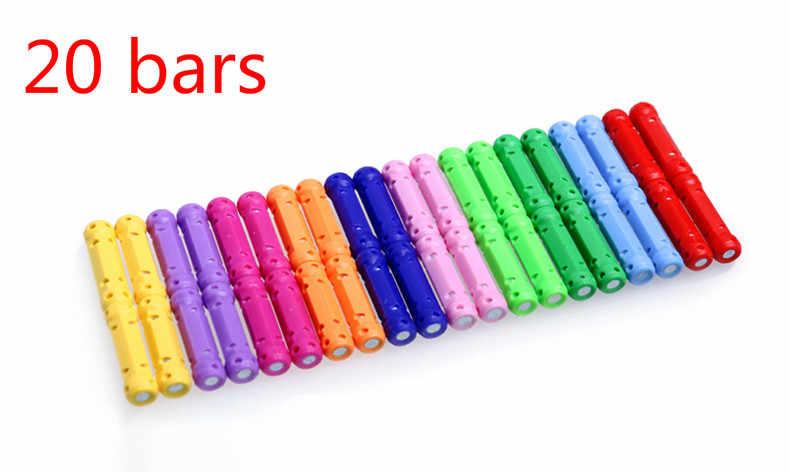 כיכר-עגול עץ צעצוע מקל מגנטי צעצוע פאזל עצרת בני ובנות Creative אבני בניין מגנט BlocksToys לילדים