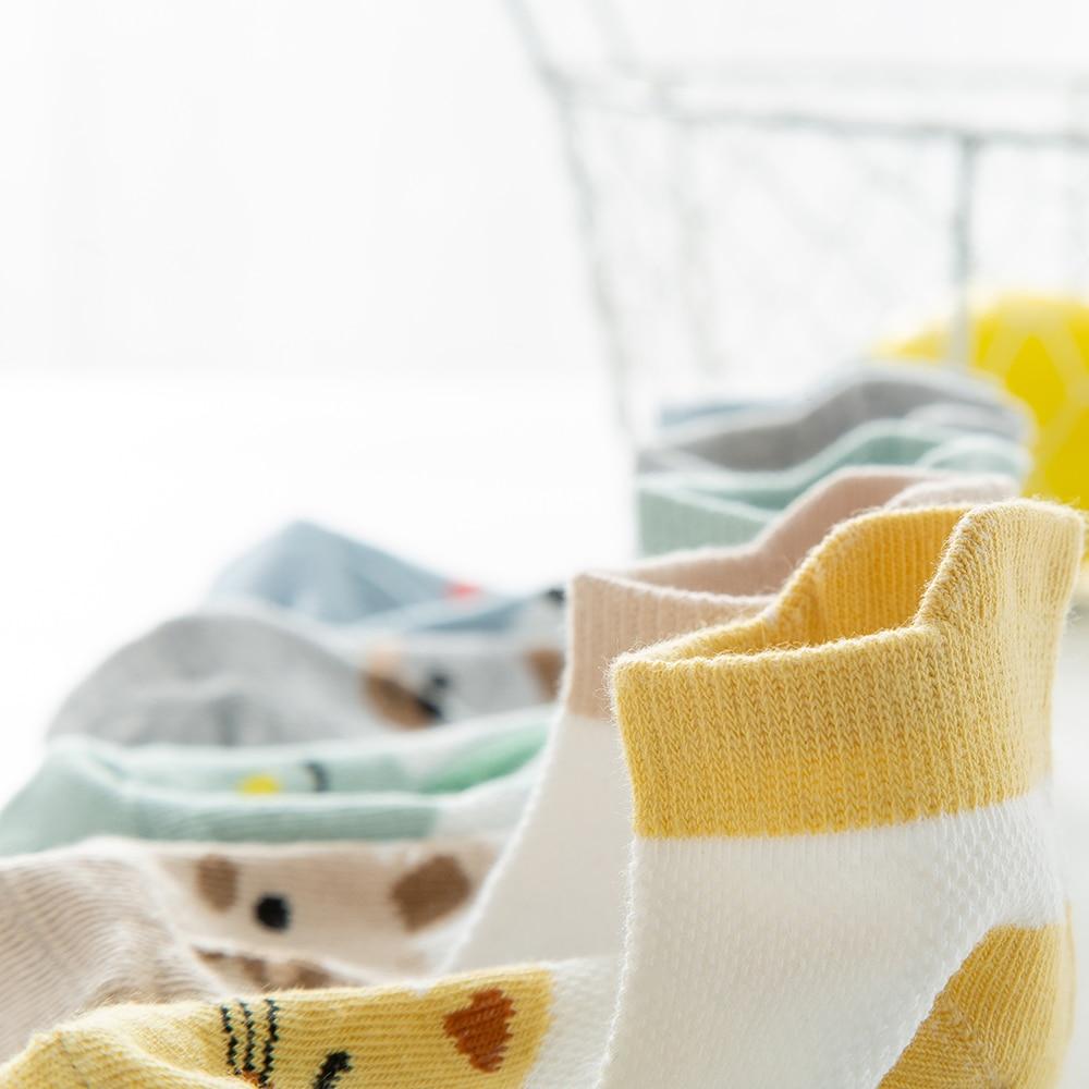 5Pairs/lot2-9Y Baby Socks Summer Cotton Animal Cartoon Kids Socks Girls Mesh Cute Newborn Boys Toddler Socks Baby 5