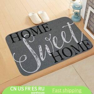 1PCS Welcome letter Print Doormats Rectangle Non-Slip Door Mat Bedroom Kitchen Entrance Print Floor Mat Doormats