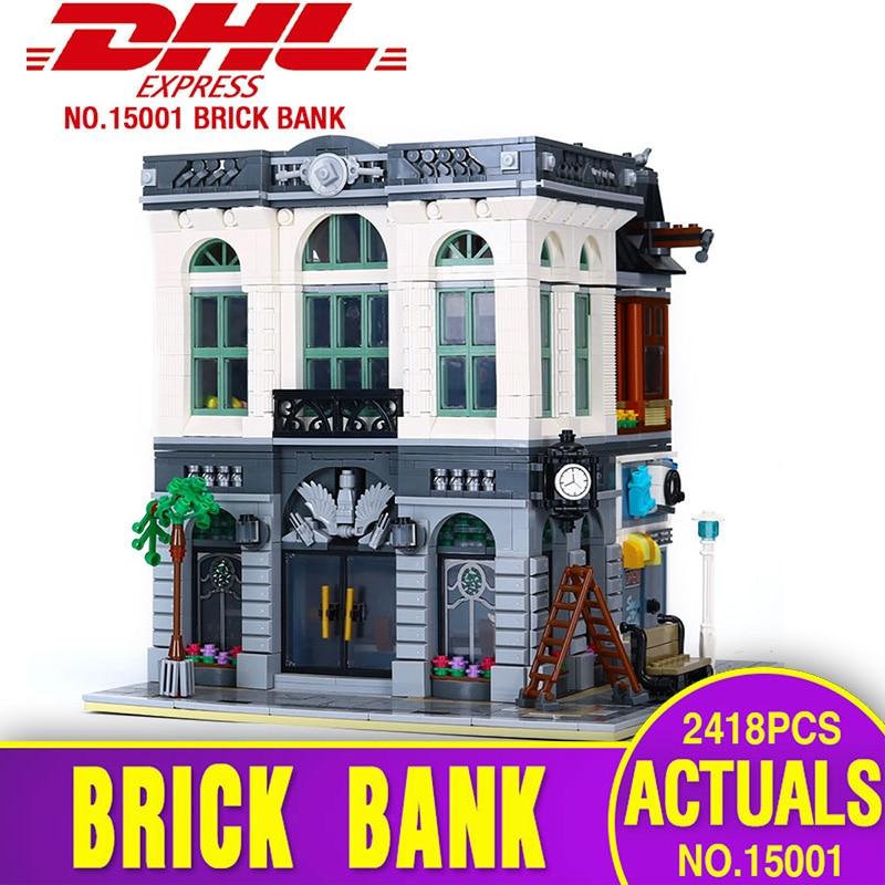 Lepining 15001 Street Building Toys Compatible With 10251 Brick Bank Model Kits Building Blocks Bricks Kids Christmas Gifts