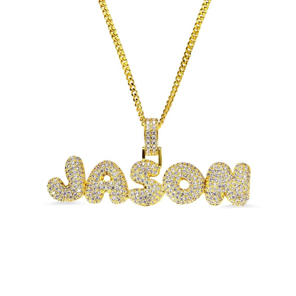 AILIN nom personnalisé bulle lettre collier Hip Hop grand pendentif bulle collier gothique Punk collier pour homme femmes mâle bijoux