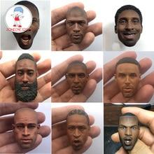 """1/6 Schaal Mannelijke Head Sculpt Basketbal Speler Hoofd Carving Zwarte Huid Headplay Voor 12 """"Collecties Diy Action Figure"""