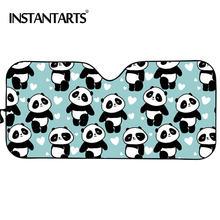 Instantarts милый дизайн панды автомобильный солнцезащитный