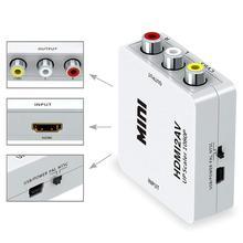 цена на HDMI To AV RCA CVBS 1080P Upscaler Composite HDTV Audio Video Adapter Converter