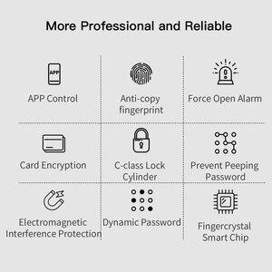 Image 5 - PINEWORLD L5 ความปลอดภัยอัจฉริยะ Biometric ลายนิ้วมือล็อค WIFI รหัสผ่าน RFID บลูทูธ APP ระยะไกล
